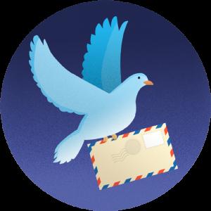 carrier pigeon illustration